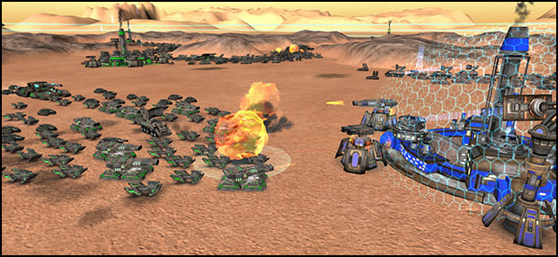 Conquer Mars Battle - In game